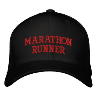 MARATHON RUNNER EMBROIDERED BASEBALL CAP