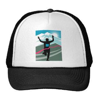 marathon runner silhouette running triahlon mesh hat
