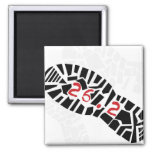 Marathon Runners 26.2 Magnets 2 Inch Square Magnet