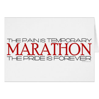 Marathon - The Pride is Forever – Best Of Luck Greeting Card
