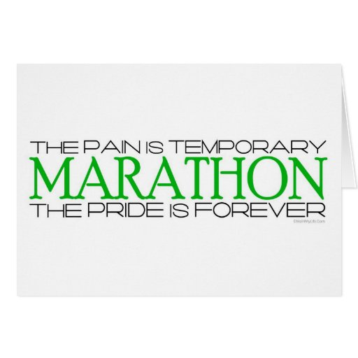 Marathon - The Pride is Forever – Good Luck Greeting Cards