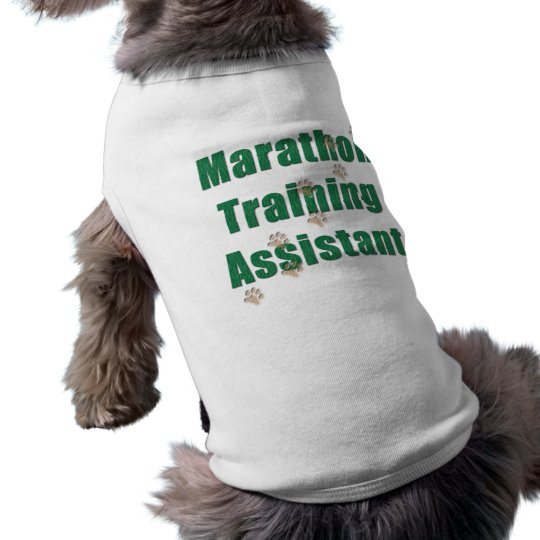 Marathon Training Assistant Sleeveless Dog Shirt