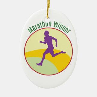 Marathon Winner Ceramic Oval Decoration