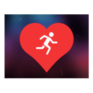 Marathons Pictogram Postcard