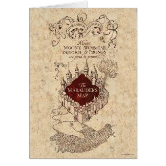 Marauder's Map Greeting Card