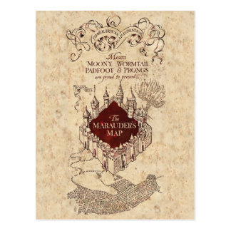 Marauder's Map Postcard