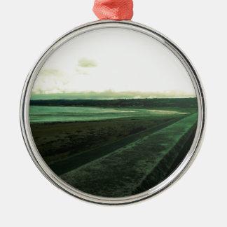 Marazion, Cornwall Silver-Colored Round Decoration
