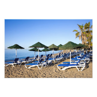 Marbella Beach on Costa del Sol in Spain Art Photo