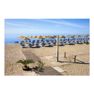 Marbella Beach on Costa del Sol  in Spain Photo Print