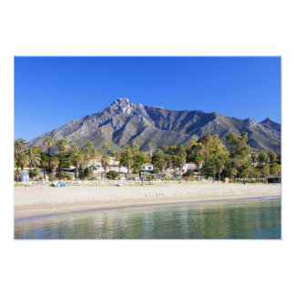 Marbella Beach on Costa del Sol in Spain Photograph