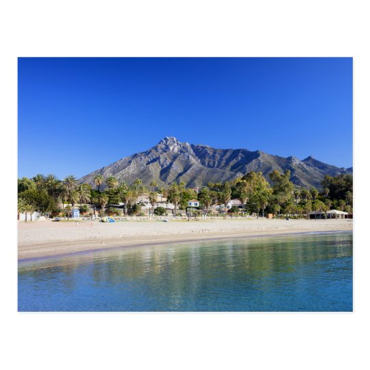 Marbella Beach on Costa del Sol in Spain Postcard