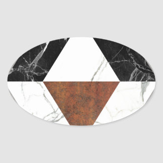 Marble Abstract Oval Sticker