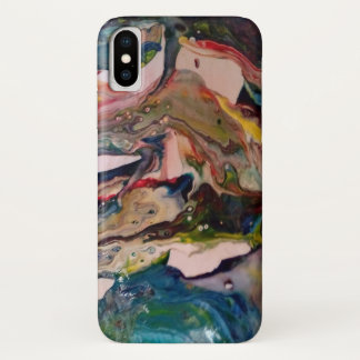 Marble acrylic paint effect iPhone x case