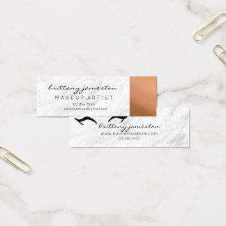 Marble and Copper Makeup Artist Business Cards