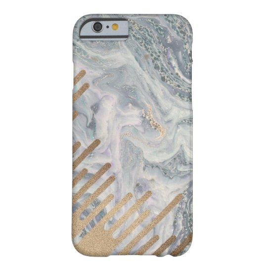 Marble and Gold Drips Phone Case