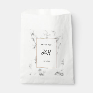 Marble and gold elegant wedding favour bags