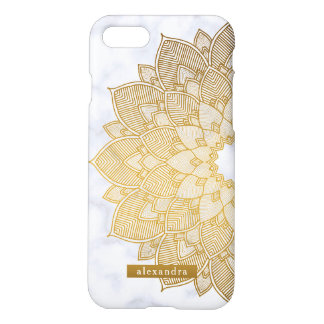 Marble and Gold Mandala Lace Pattern iPhone 8/7 Case