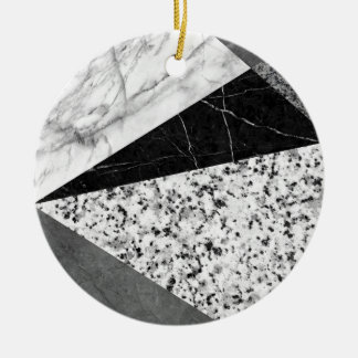 Marble and Granite Abstract Christmas Ornament