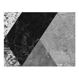 Marble and granite abstract postcard