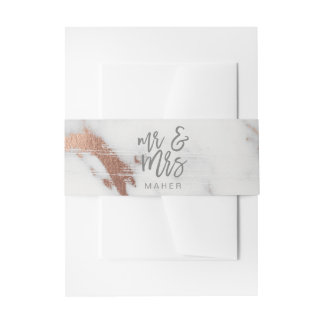 MARBLE AND METALLIC INVITATION BELLY BAND