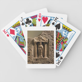 Marble and sandstone votive stele with female figu bicycle playing cards