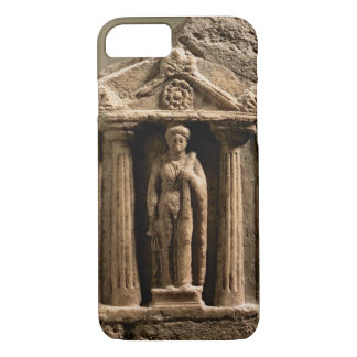 Marble and sandstone votive stele with female figu iPhone 8/7 case
