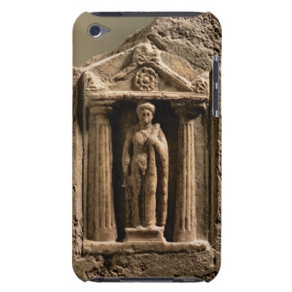 Marble and sandstone votive stele with female figu iPod touch cases