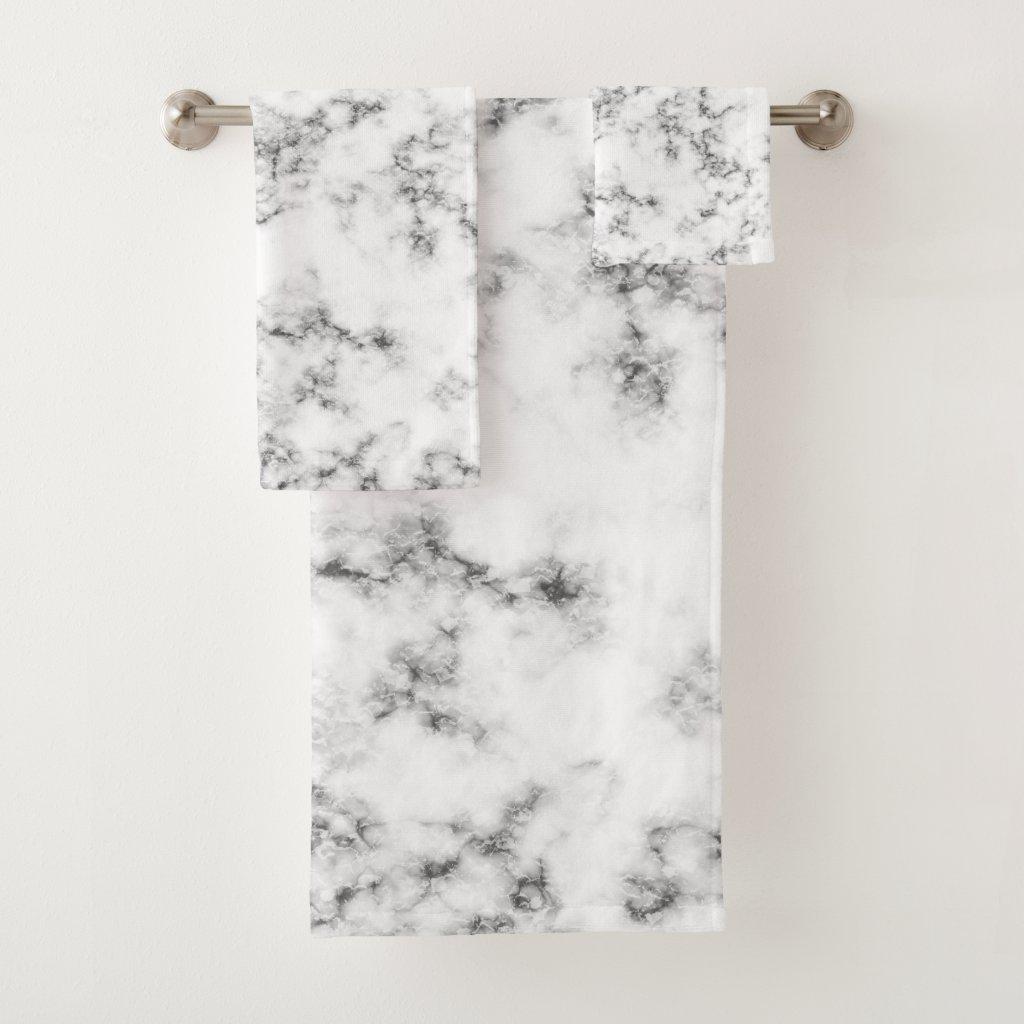 Marble Bath Towel Set