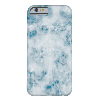 Marble Blue Texture Background Barely There iPhone 6 Case