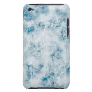 Marble Blue Texture Background Barely There iPod Case