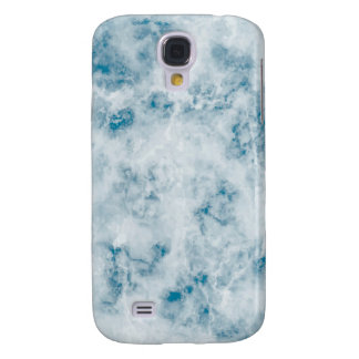 Marble Blue Texture Background Galaxy S4 Case