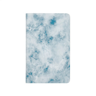 Marble Blue Texture Background Journal