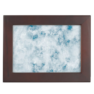 Marble Blue Texture Background Keepsake Box