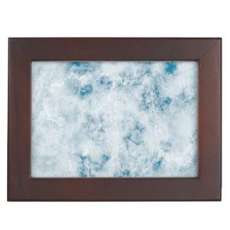 Marble Blue Texture Background Keepsake Boxes