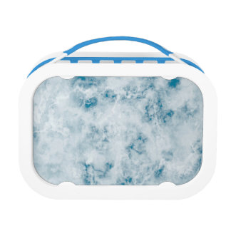 Marble Blue Texture Background Lunch Box