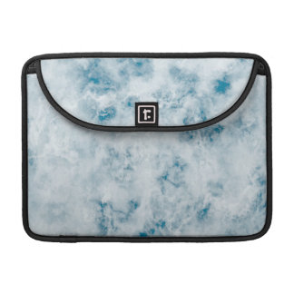 Marble Blue Texture Background Sleeve For MacBooks