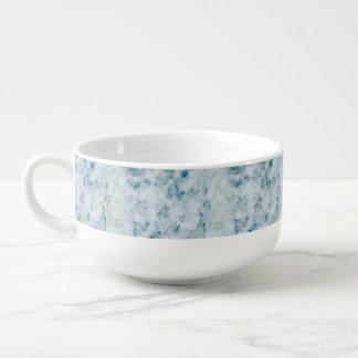 Marble Blue Texture Background Soup Mug