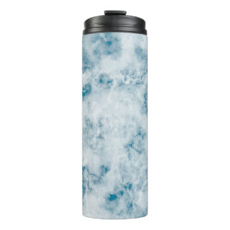 Marble Blue Texture Background Thermal Tumbler