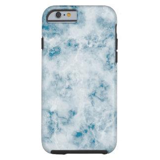 Marble Blue Texture Background Tough iPhone 6 Case