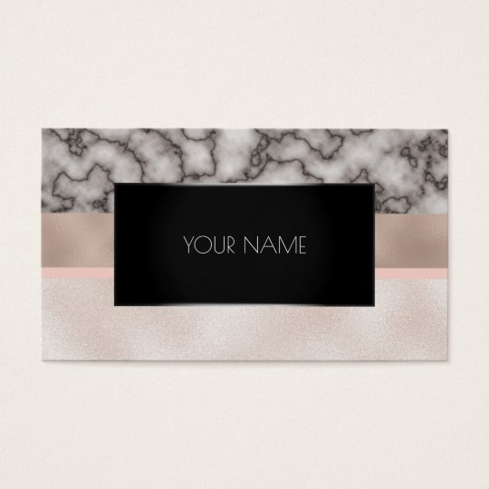 Marble Blush Black Silver Gold Abstract Rose Pink
