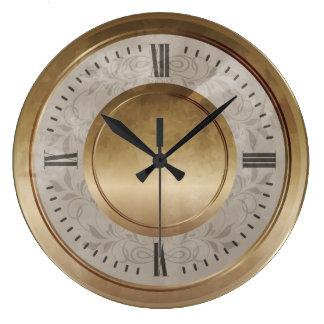 Marble Brass Clock