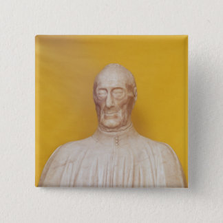 Marble bust of Giovanni Chellini 15 Cm Square Badge