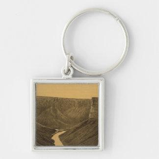 Marble Canon, Colorado River Silver-Colored Square Key Ring