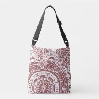 Marble circle bag mandala bohemian style