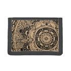 Marble Circle wallet. mandala pattern Trifold Wallet