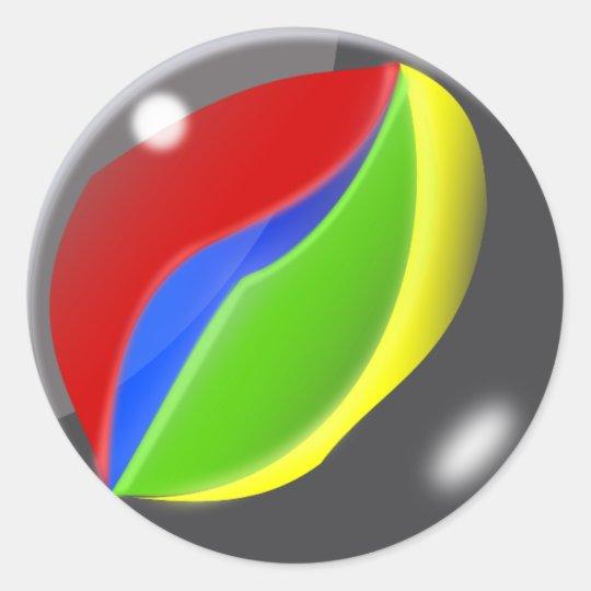 Marble Classic Round Sticker