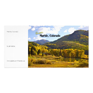 Marble Colorado - Vintage Style Personalized Photo Card