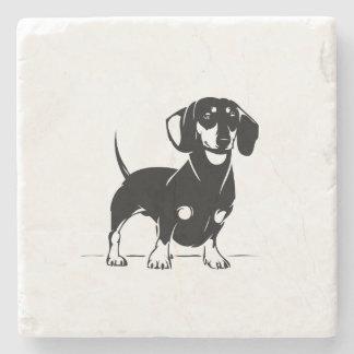 Marble dachshund coaster
