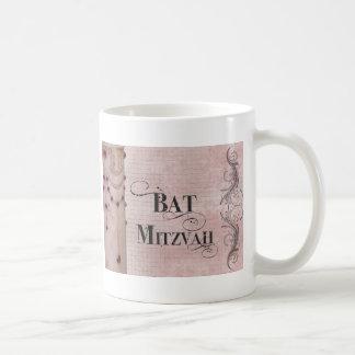 Marble design Bat Mitzvah Basic White Mug