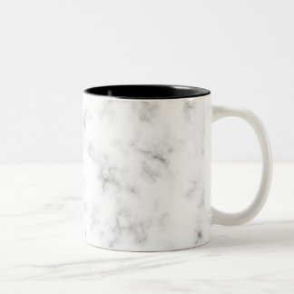 Marble Design Pattern Two Tone Mug Black